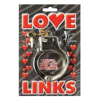 Erotic Toy Company Gold Plastic Love Links Cuffs