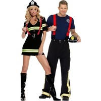 Blazin' Hot Firefighter Couples Costumes