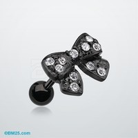 Blackline Dainty Bow Tie Cartilage Earring