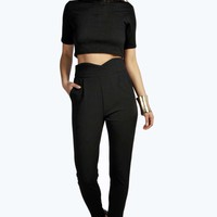 Sheba High Waisted Woven Tapered Trousers