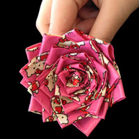 Hello Kitty Duct Tape Rose Hair Clip