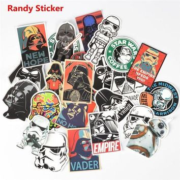 DCCKU7Q Star Wars 25 kinds waterpoof creative sticker for Skateboard Laptop Luggage Fridge Phone toy Styling home doodle Sticker