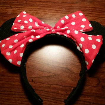 Disney's Minnie Mouse inspired handmade Mickey Ears
