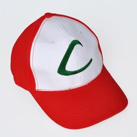 Pokemon ASH Ketchum Visor Cap Cosplay Hat Pocket Monster Anime Collect mp001984