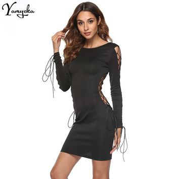 Sexy Black Bandage Summer Dress Women elegant Bodycon Vestido Lo d79e058a23a3