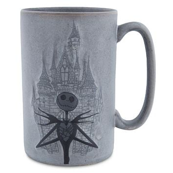 Disney Parks Nightmare Before Christmas Jack Skellington with Castle Mug New