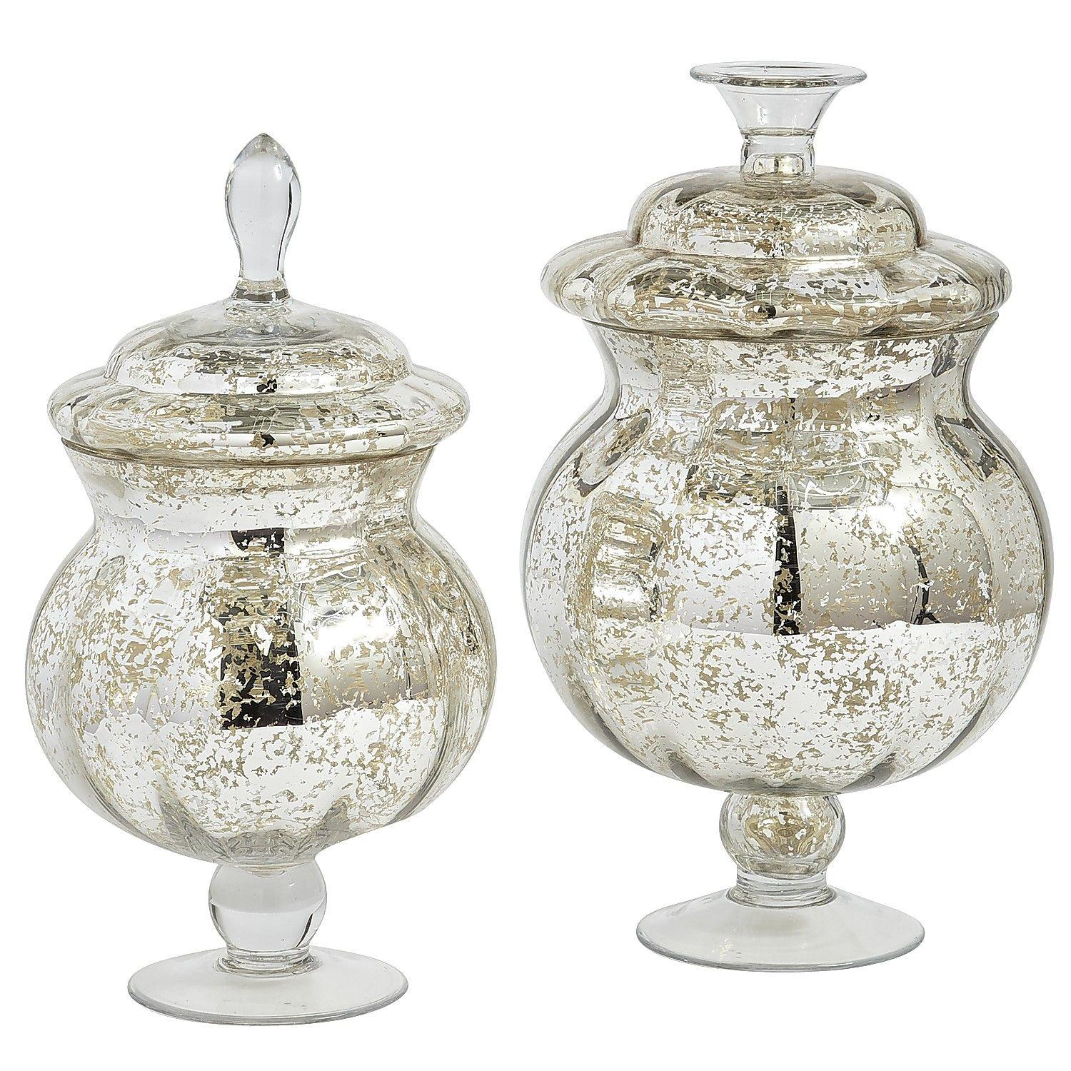 Mercury Glass Apothecary Jars from Pier 1 imports
