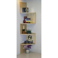 4D Concepts Hanging Corner Storage, Maple