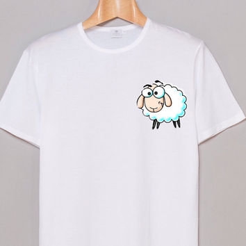 Tumblr  Teen Shirt drawing of  a Cute Sheep tumblr
