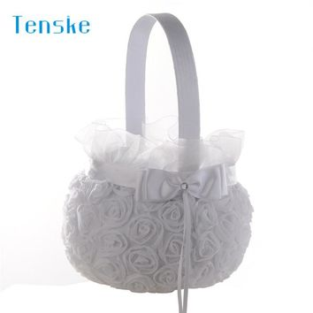 wedding decoration Petal Storage Baskets Ceremony Party Rose Flower Girl Basket