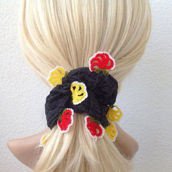 hair scrunchies, hair accessories, pony tail holder