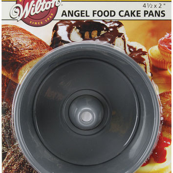 "Mini Angel Food Cake Pans 2/Pkg-4-1/2""""X2"