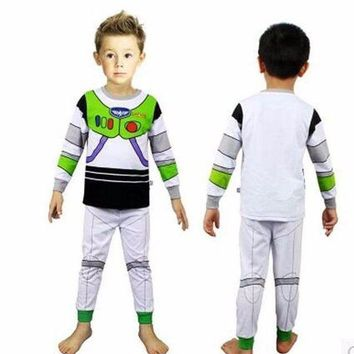 ICIKH6B Toy Story I Am Buzz Lightyear Cosplay Kids Children Costume Halloween Dress-up