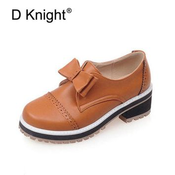 Fashion Bow Slip-on Women Oxford Shoes Ladies Casual Low Heeled Oxfords Vintage England Style Oxford Shoes For Women Size 34-46