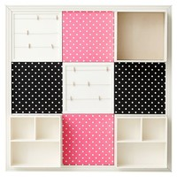 3x3 Pink & Black Dottie Set