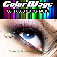 Indigo Colorways Contact Lenses change your eye color dark blue