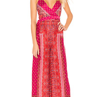 Free People Cabbage Rose Jumpsuit in Pink Combo   REVOLVE