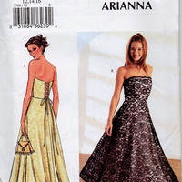 Butterick Sewing Pattern Formal Circle Skirt Dress Tea Length Princess Seam Full Flared Skirt Prom Dress Uncut Bust 34 to 38