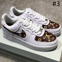 NIKE & GUCCI & LV Louis Vuitton Air Force 1 2018 Summer New Casual Fashion Sneakers F-MDTY-SHINING #3