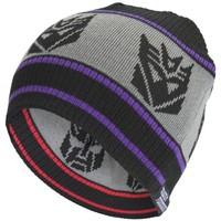 Transformers - Mens Transformers - Decepticons Reversible Beanie Grey