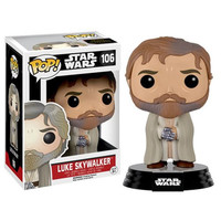 Bearded Luke Skywalker Star Wars Force Awakens Pop Vinyl Figure