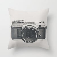 Vintage Camera Phone Throw Pillow by Love2Snap