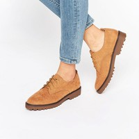 New Look Suedette Lace Up Brogue at asos.com