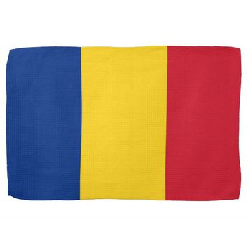 Kitchen towel with Flag of Romania