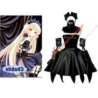 Free Shipping Chobits Freya Dark Chii Faux Leather Pvc Maid Dress Cosplay Costume Custom-made [G567] - $121.46 : Fond Cosplay