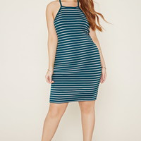 Plus Size Stripe Cami Dress