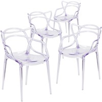 4 Pk. Nesting Series Transparent Stacking Side Chair