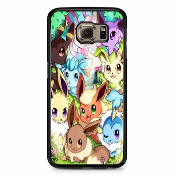 Eeveelution Eevee Vaporeon Samsung Galaxy S6 Edge Plus Case