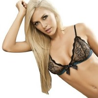 Besame High Quality Black Natural Enhancement Triangle Top #SL3412 Made in Colombia