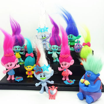 11 styles mini trolls Movie Trolls Action Figure toys Poppy Branch Critter Skitter Figures Trolls toys for Children Kids Gifts