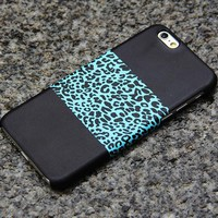 Turquoise Leopard iPhone 6 iPhone 6 plus iPhone 5S 5 iPhone 5C iPhone 4S Black Samsung Galaxy S6 edge S6 S5 S4 Note 3 Case Animal Print 09