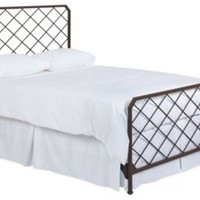 Karen Lattice Steel Panel Bed, Rust, Panel Beds