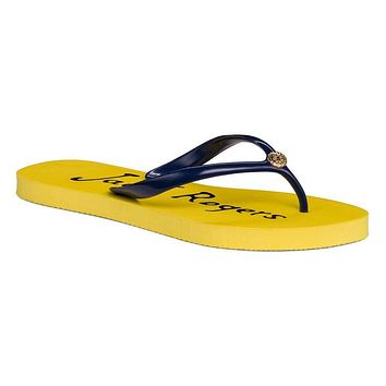 Women's Tessa Flip Flop Sandal in Buttercup and Midnight by Jack Rogers - FINAL SALE