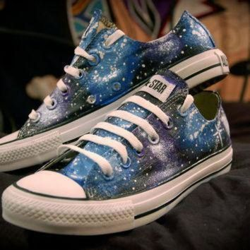 ICIKGQ8 blue and purple galaxy shoes converse