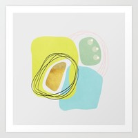 Modern minimal forms 48 Art Print by naturalcolors