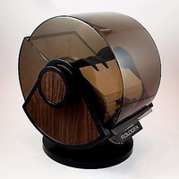 Rolodex SW-24C Wood Grain Classic Card Organizer Desk Contact Information o155
