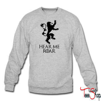 roar crewneck sweatshirt