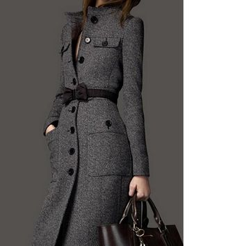 MY MALL METRO  Women tweed coat cashmere woven coat  Check Homepage for Promo Codes! <