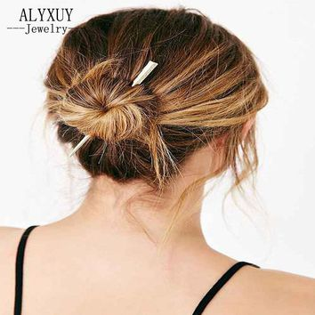 New fashion hairwear  goldensimple long bar Hair Accessories gift for women girl H413