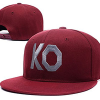 XINMEN Kevin Owens KO Fight Logo Adjustable Snapback Embroidery Hats Caps - Red