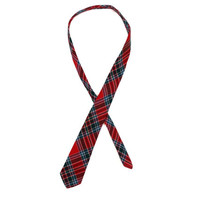 Vintage Wool Flannel Tie - Scotland, MacBean, Red Green Blue Plaid, Men's Accessories, Gifts for Him