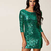 Gina Sequin Sleeve Dress, Oneness