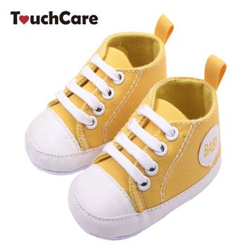 Fashion Infant Newborn Shoes Baby Girl Boy Sports Sneakers Soft Bottom Anti-slip T-tie
