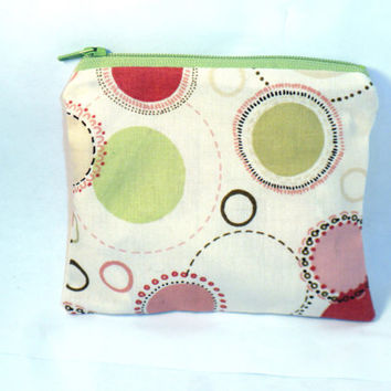 Change purse zipper pouch geometric coin by redmorningstudios