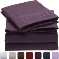 Wrinkle, Fade, Stain Resistant, Hypoallergenic Microfiber Twin, Queen, King, California King Size 4 Piece Sheet Set