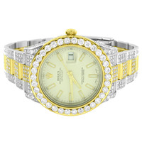 Datejust II Rolex 2 Tone Diamond Watch Full Iced Out Steel / 18k Gold Brand New